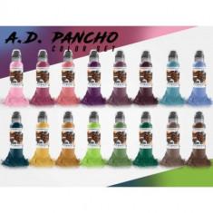 Set A.D. Pancho ProTeam World Famous Ink - 16x30ml