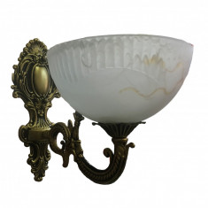 Aplica Exp 8032/1, 1*e27, schelet auriu, abajur alb mat in forma de floare