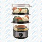 Cumpara ieftin Aparat de gătit la aburi Hausberg, 3 nivele, 400W, 7,2 litri