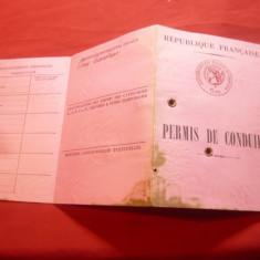 Permis de Conducere Republica Franceza 1965 ( patat cu tus)