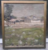 Pictura veche - Aurel Baesu, Peisaje, Ulei, Impresionism