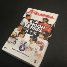 Set complet sigilat Topps Baseball Premium 2019 London Series in cutia oficiala