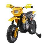 HomCom Moto Cross Electric pentru Copii cu Role,Galben