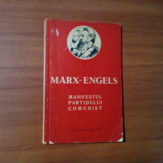MANIFESTUL PARTIDULUI COMUNIST -  Karl Marx, Frederich Engels - 1959, 103 p.