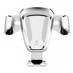 "Suport Auto Aerisire Universal Baseus Gravity Leather 46"" Argintiu"