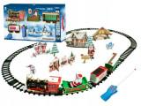 Set Trenuletul lui Mos Craciun cu Locomotiva, 3 Vagoane, Telecomanda, Sunete, Lumini, Sina si Decoratiuni de Craciun