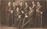 A146 Fotografie ofiteri romani cu sabii anii 1930