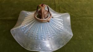 STICLA VECHE ARTDECO - LAMPA CU ABAJUR - PROBABIL STICLA DE LOETZ  ( SIDEFATA )