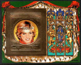 GUINEA BISSAU 1982 LADY DIANA GOLD FOIL COTA MICHEL 60 EURO, Nestampilat