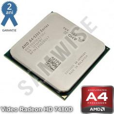 Procesor AMD A4 X2 5300, 3.4GHz (Turbo 3.6GHz), Socket FM2, Video Radeon HD...