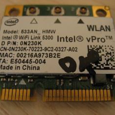 Placa wireless laptop Dell Latitude E6400, Intel WiFi Link 5300, 533AN_HMW