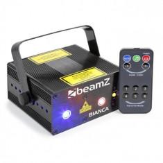 Beamz Bianca laser fascicul dublu 330 W RGB-12 gobo, telecomandă, 7-DMX IR