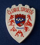 Placheta Clubul sportiv Steagul Rosu - Brasov - ceramica - medalie