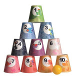 Joc de indemanare pentru copii Piramida din conuri - Badaboum