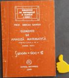 Elemente de analiza matematica Mircea Ganga clasa XII partea intai