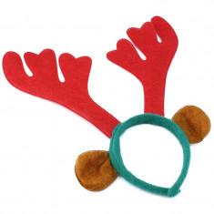 Cordeluta cu coarne de ren, urechi, 34x31 cm, pentru copii