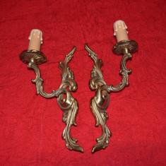 Pereche aplice din bronz masiv  cu un brat 28 cm NR 21