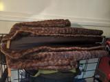 Haina vintage din blana de nurca plus mantie cadou