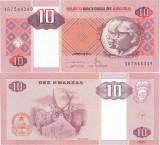 2011 ( I ) , 10 kwanzas ( P-145c ) - Angola - stare UNC