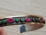 Bratara reglabila - argint 925 - pietre naturale