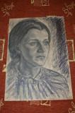 Desen in carbune MAGHERUSAN ,anii 1970,  chip ingandurat,
