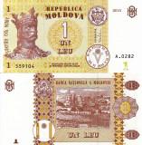MOLDOVA 1 leu 2015 UNC!!!