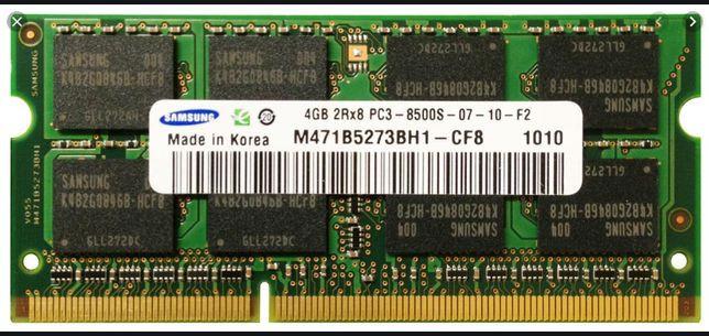 Memorie Laptop Samsung 4GB DDR3 PC3-8500S 1066Mhz M471B527BH1
