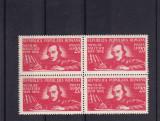 ROMANIA 1948 LP 247 - 130 ANI NASTEREA LUI N. BALCESCU BLOC DE 4 TIMBRE MNH, Nestampilat
