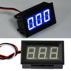 voltmetru digital dc 0-30V led albastru fosforescent