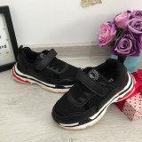 Cumpara ieftin Adidasi negri cu scai f usori pt baieti fete pantofi sport unisex 28 29 30