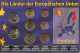 Finlanda Set 8C - 1, 2, 5, 10, 20, 50 euro cent, 1, 2 euro 2008 - UNC !!!