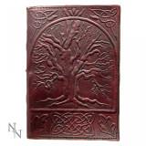 Agendă / Jurnal cu coperți din piele si snur Copacul vieții 18x25 cm