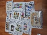 Plicuri filatelice cu  25 timbre straine si 25 romanesti 1 colita, Stampilat