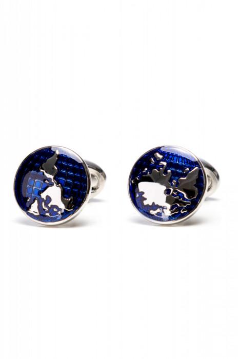 Butoni camasa rotunzi albastri BU016