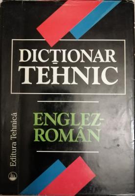 Dictionar tehnic englez roman, Ed. Tehnica, 1997 foto