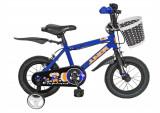 Bicicleta Copii 12 Inch, Junior, J1201A, Cadru Otel, Roti Ajutatoare, Varsta 2-4 Ani