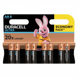 Set 8 baterii Duracell Ultra, tip AA