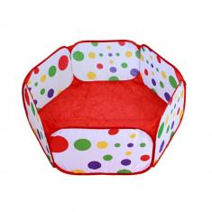 Tarc de Joaca PVC Pliabil pentru Copii sau Animale de Companie, Diametru 90cm, Culoare Alb