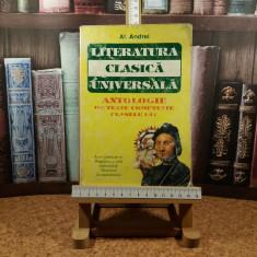 "Al. Andrei - Literatura clasica universala clasele I - IV ""A3425"", Clasa 1, Romana"