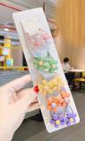 Cumpara ieftin Set 10 elastice pentru par - Floricele colorate