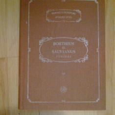 d1d Scrieri - Boethius Si Salvianus-Articole teologice si Mangaierile filozofiei