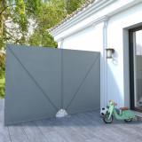 Copertină laterală pliabilă de terasă, gri, 300x200 cm, vidaXL