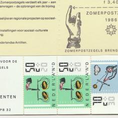 Olanda 1986 - instrumente antice, carnet filatelic