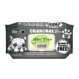 Absorbant Plus Charcoal Pet Wipes Aloe Vera, 80 bucati