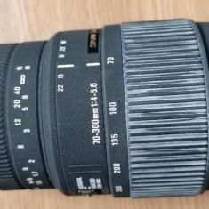 obiectiv foto ZOOM SIGMA DG 70-300mm 1:4-5,6, macro compatibil Sony a/Minolta