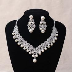 Set colier si cercei Pearl