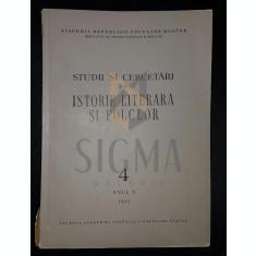CALINESCU G., PANAITESCU-PERPESSICIUS D. - STUDII SI CERCETARI DE ISTORIE LITERARA SI FOLCLOR (REVISTA, ANUL X, NUMARUL 4, 1961)