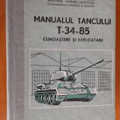 MANUALUL TANCULUI T 34 85 CUNOASTERE SI EXPLOATARE  MINISTERUL APARARII NATIONLE