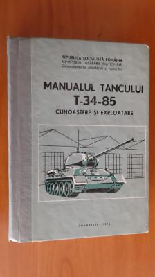 MANUALUL TANCULUI T 34 85 CUNOASTERE SI EXPLOATARE  MINISTERUL APARARII NATIONLE foto