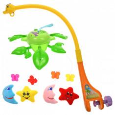 Carusel muzical multicolor pentru bebelusi, electric si stele din plus - 3614